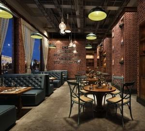 复古工业风大户型餐厅装修效果图