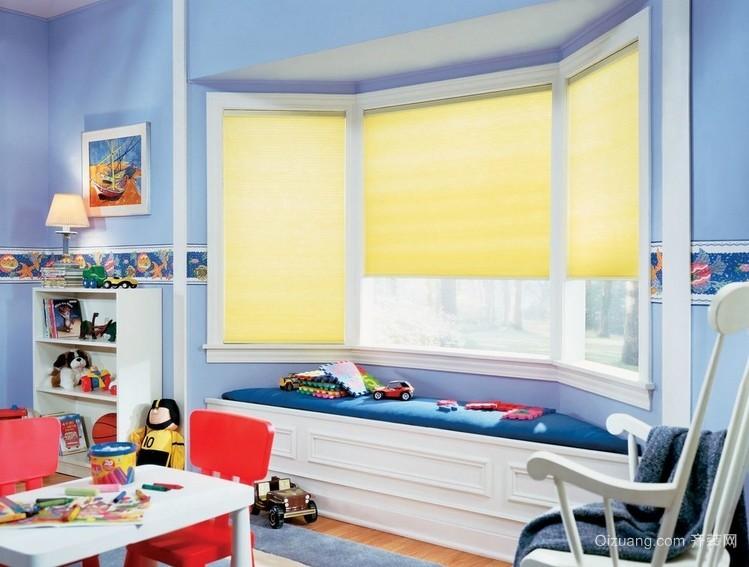 轻快大户型儿童房个性飘窗设计效果图