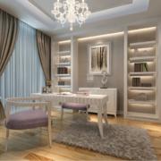 时尚大方的三居室欧式书房装修效果图