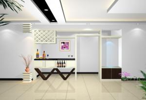 别墅型精美的现代简约吧台装修效果图