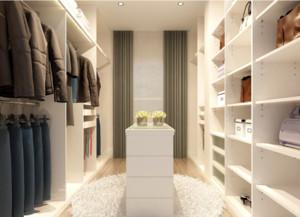 欧式三居室步入式衣帽间装修效果图欣赏