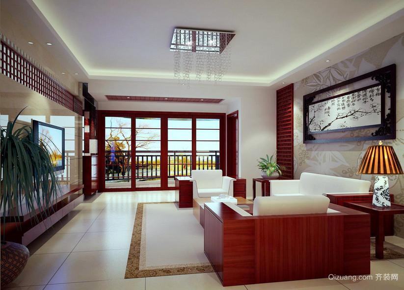 复式楼精致独特的中式风格客厅装修效果图