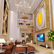 2016复式楼欧式风格室内装修效果图