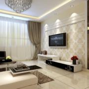 2016欧式大户型客厅电视背景墙装修效果图