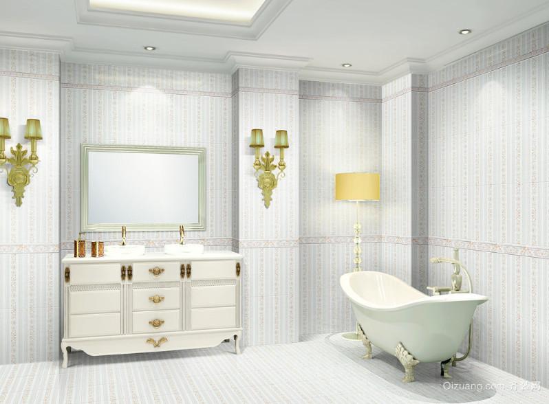 欧式风格别墅型浴室装修效果图鉴赏