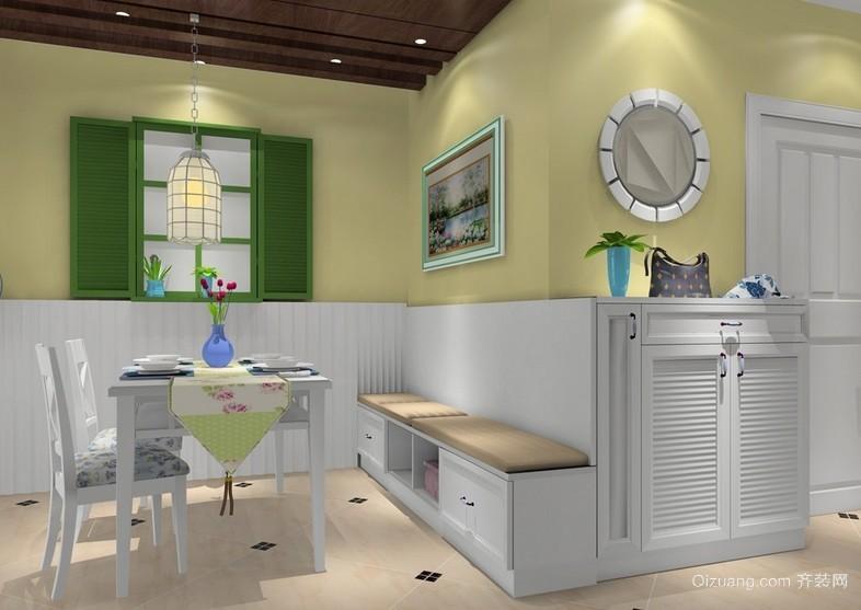 清新韩式小户型家居餐厅装修效果图