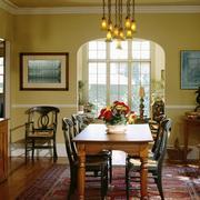 美式复古风别墅餐厅装修效果图