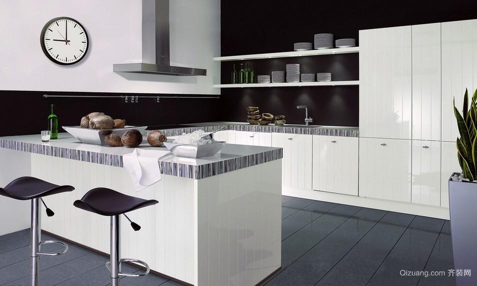 时尚开放式厨房后现代风格装修效果图