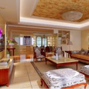 优美时尚的三居室欧式室内吊顶装修效果图