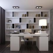 单身公寓韩式风格书房设计装修效果图