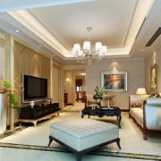 120平米大户型欧式风格客厅装修效果图欣赏