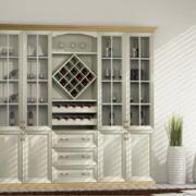 美式风格100平米酒柜房屋装修效果图