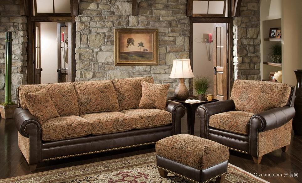古典风格复式楼客厅室内装修效果图鉴赏