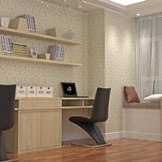 76平米乡村朴素书房设计装修效果图