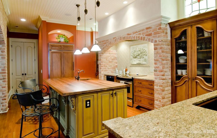 大户型别墅厨房复古风格装修效果图大全