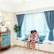 三室一厅宜家小清新飘窗装修效果图