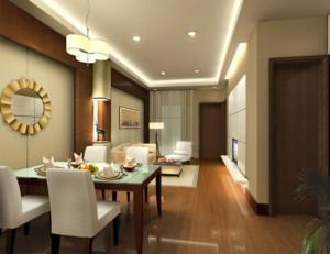 别墅型后现代装修风格餐厅装修效果图