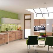 三居室乡村风开放式厨房装修效果图大全