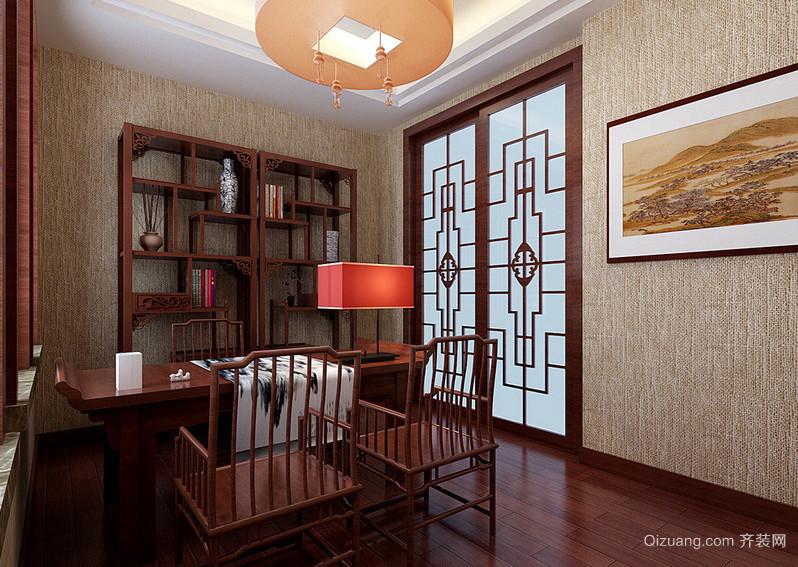 2016古典中式风格书房设计装修效果图