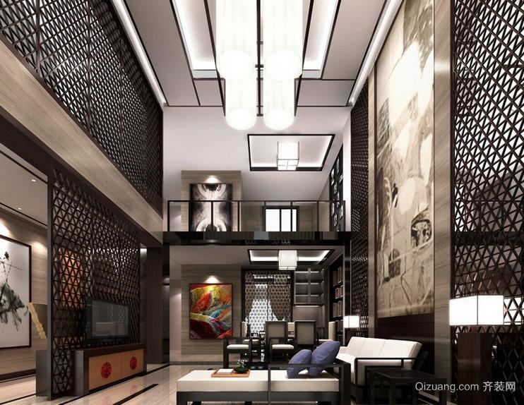 中式风格别墅型室内装修效果图实例