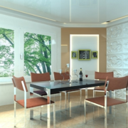 2016精致的大户型现代简约餐厅装修效果图