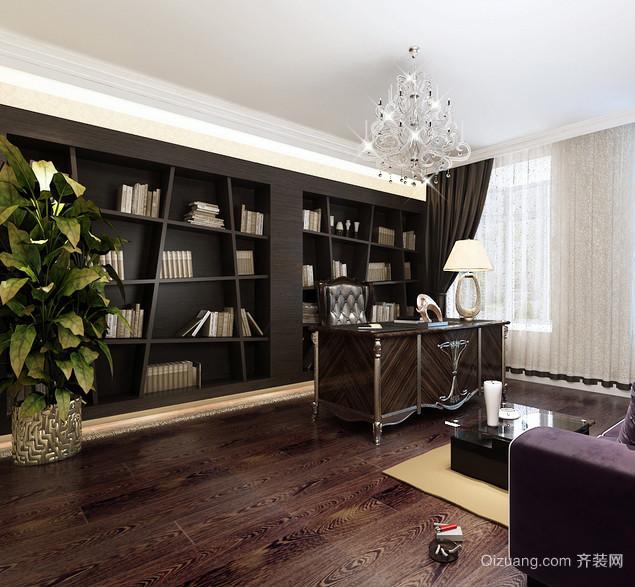 三室一厅新古典书房设计装修效果图