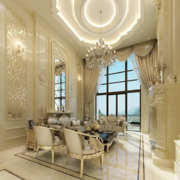 美式风格完美的别墅室内吊顶装修效果图