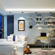 混搭风格大户型儿童房室内装修效果图实例