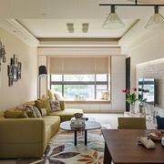 67平米乡村自然的客厅飘窗装修效果图