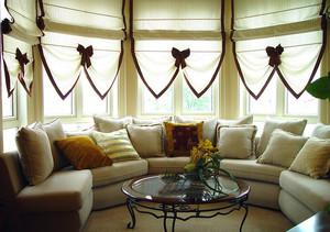 120平米家居自然清新飘窗设计装修效果图