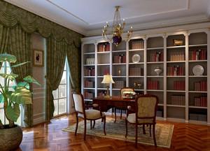 210平米四居室古典书房装修效果图