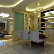 混搭风格大户型餐厅背景墙装修效果图实例