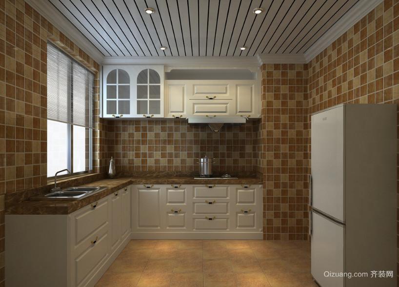 大户型欧式风格厨房吊顶装修效果图