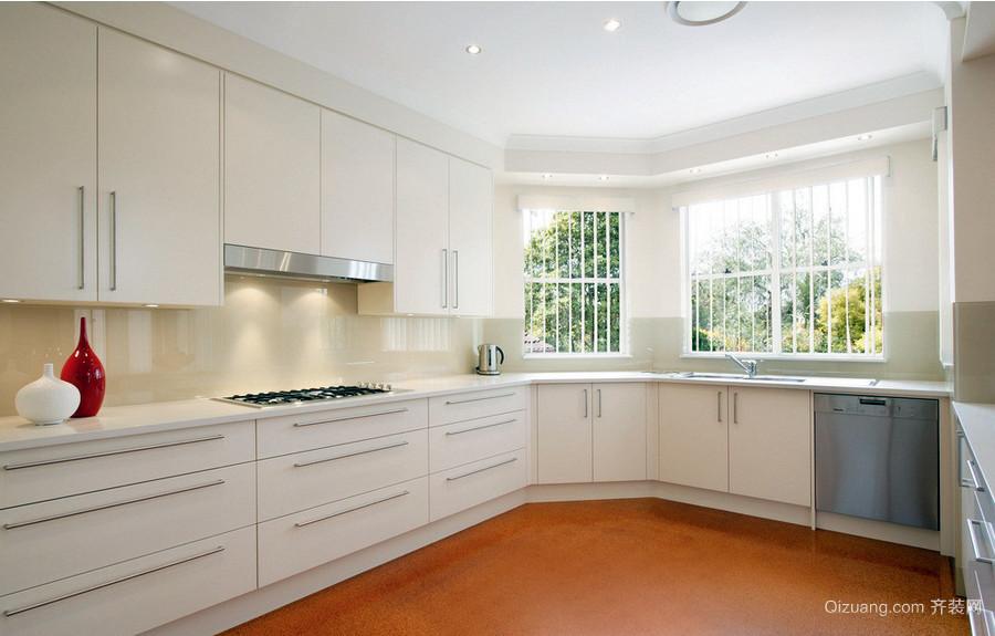 北欧简洁的大户型厨房装修效果图大全