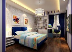 现代都市别墅型家庭儿童房装修效果图