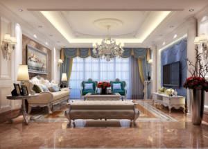 2016别墅型客厅电视背景墙装修效果图实例高清图片