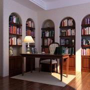 14平米新古典气息书房设计装修效果图