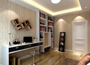 前卫两居室韩式风书房设计装修效果图