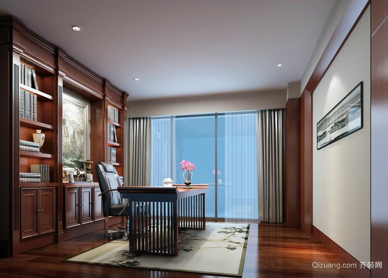 大型别墅新古典风格书房装修效果图