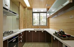 兼具时尚与自然的大厨房装修效果图大全