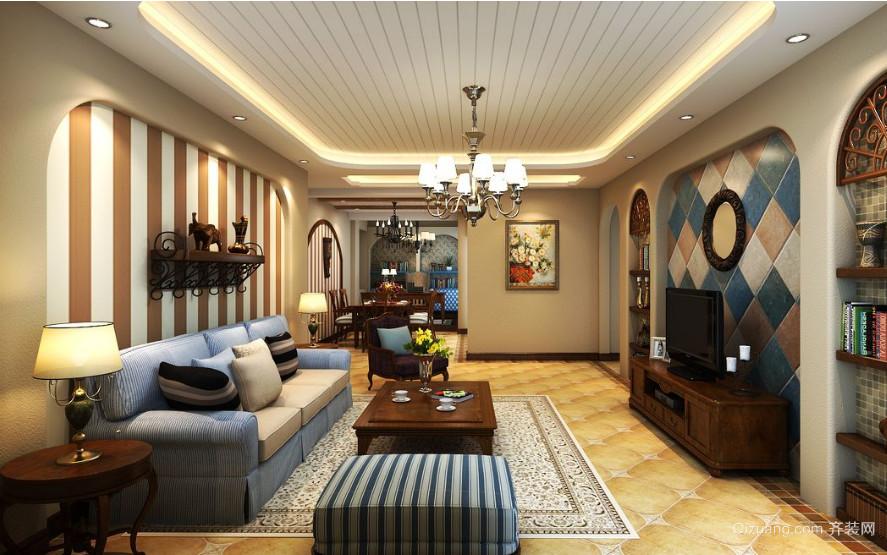 地中海风格小户型客厅装修设计效果图