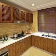 静谧东南亚风格大厨房装修效果图大全