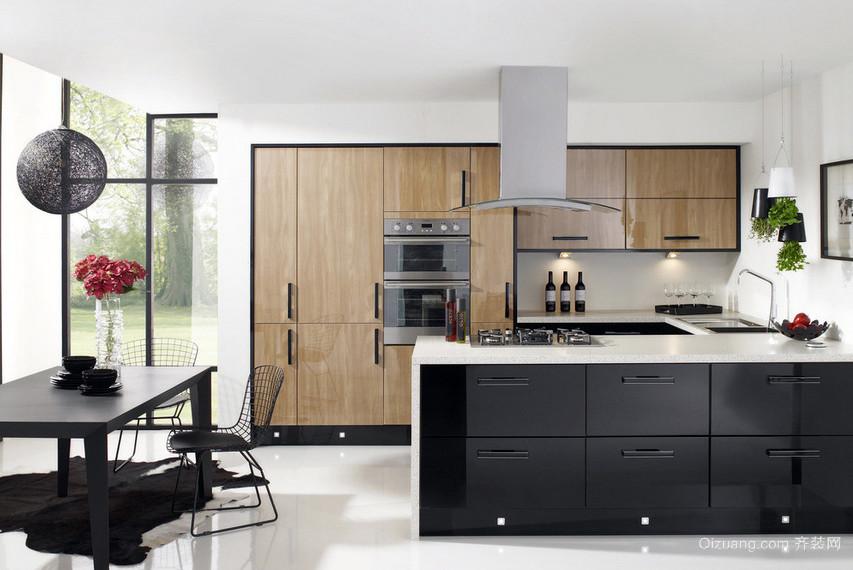 韩式时尚开放式小厨房装修效果图大全