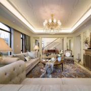 120平米浪漫的法式风格客厅装修效果图