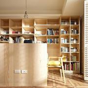 两室一厅书房实木书柜
