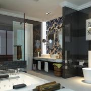 后现代风格大户型卫生间设计效果图