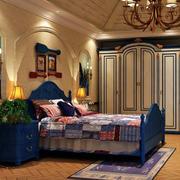 2016地中海复古风大卧室装修图片