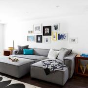 复式楼客厅沙发背景墙欣赏