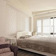 两室一厅卧室床头壁纸