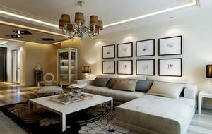 现代简约客厅照片墙欣赏